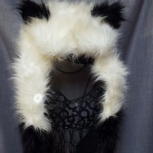 "Boutique Accessories - Panda Spirit Hood Style Fur Hood ""Pandamonium"""